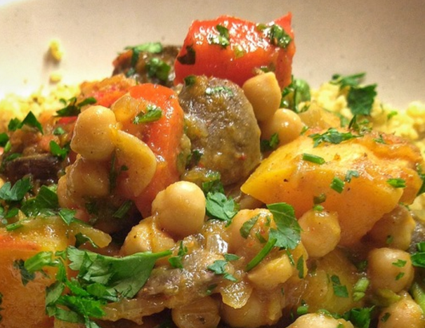 Moroccan Chickpea and Vegetable Tagine‏