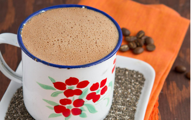Keto Mocha Coffee with Chia Seeds