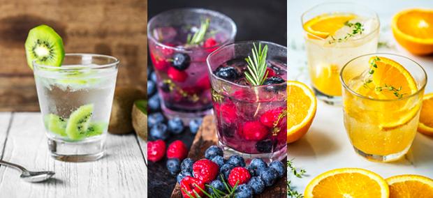 infused water berries oranges cucumbers