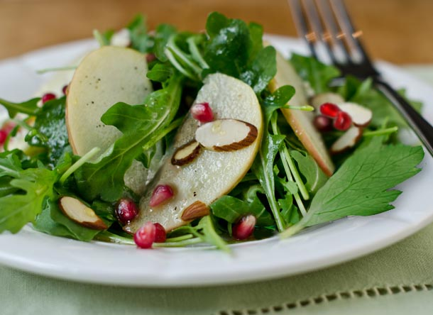 pomegranate arugula apple salad
