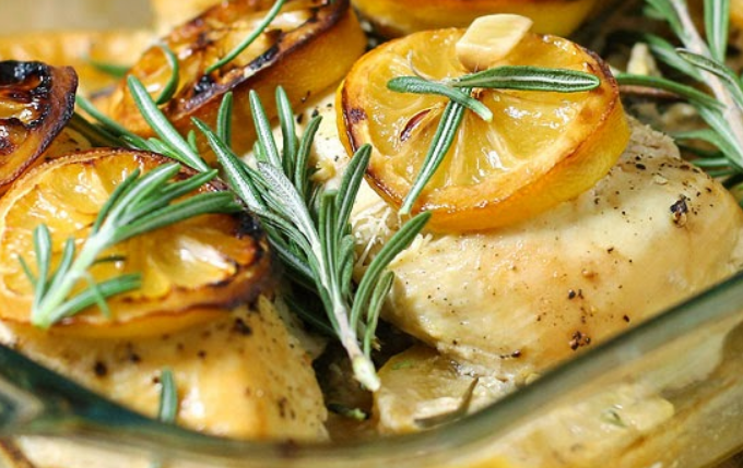 Rosemary Lemon Chicken Breasts